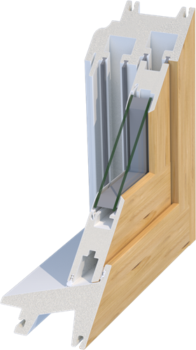 Mikronwood thermal advantage commercial window profile for Quanex building products