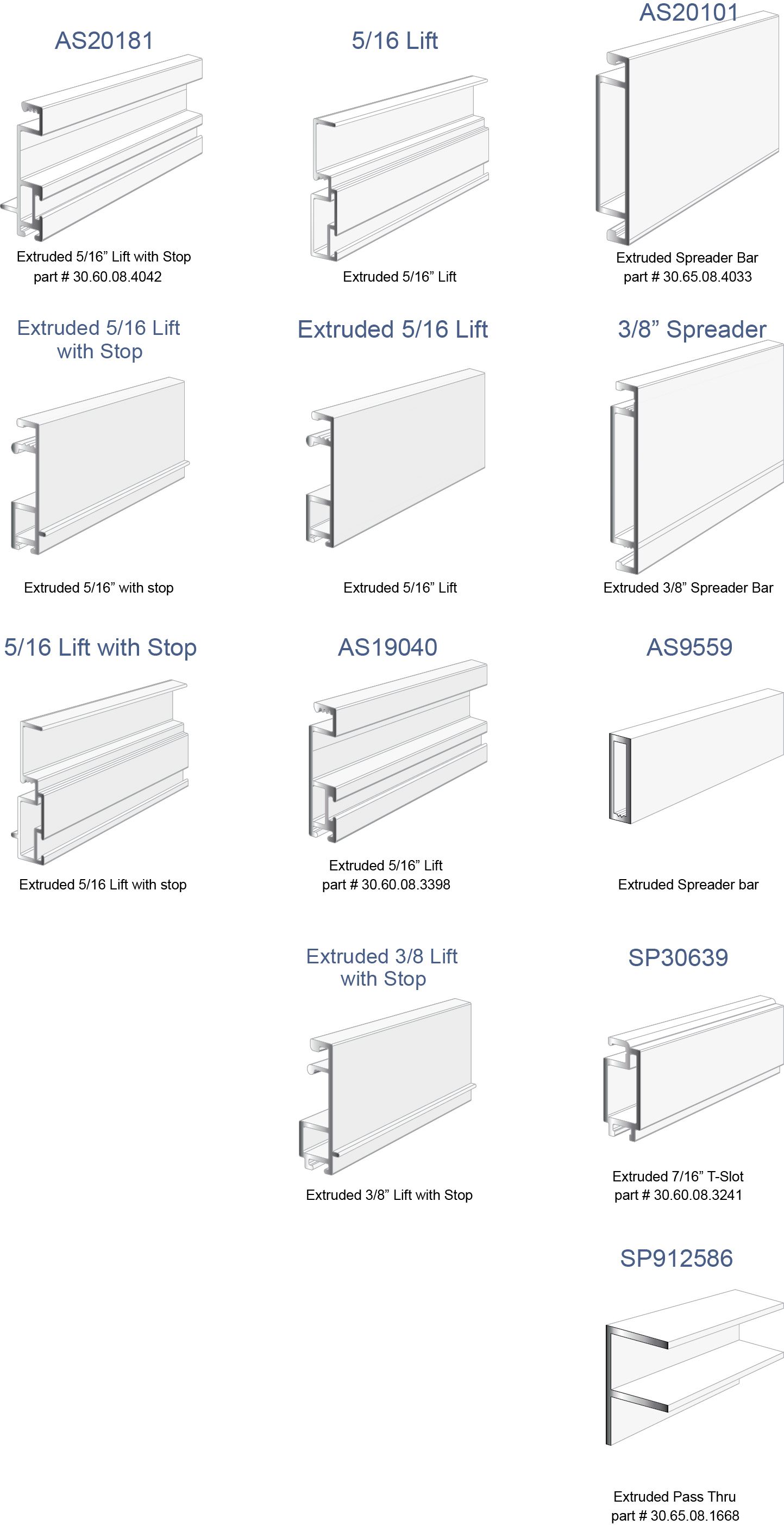 Extruded Screen Frame Profiles